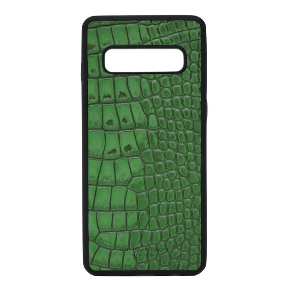 "Green Croc ""3"" Galaxy S10 Case"