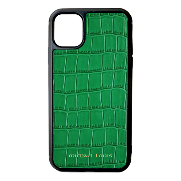 Green Croc iPhone 11 Case