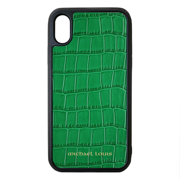 Green Croc iPhone XR Case