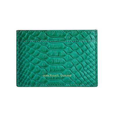 Green Python Classic Card Holder