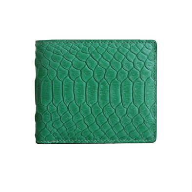 Green Python Classic Bifold Wallet
