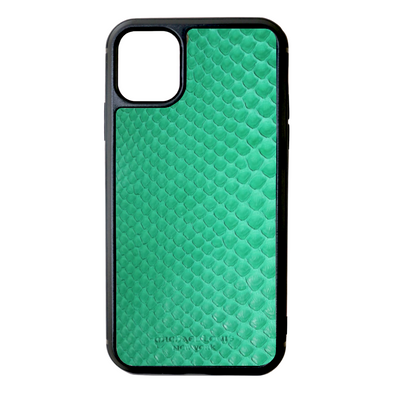 Green Python Snakeskin iPhone 11 Case