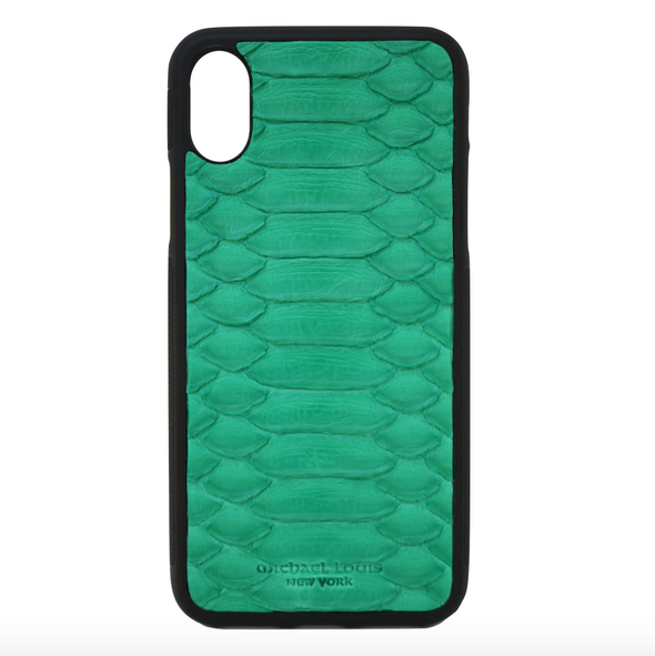 Green Python iPhone X Case