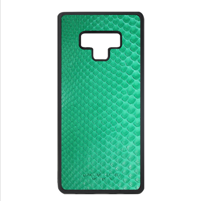 Green Python Snakeskin Galaxy Note 9 Case