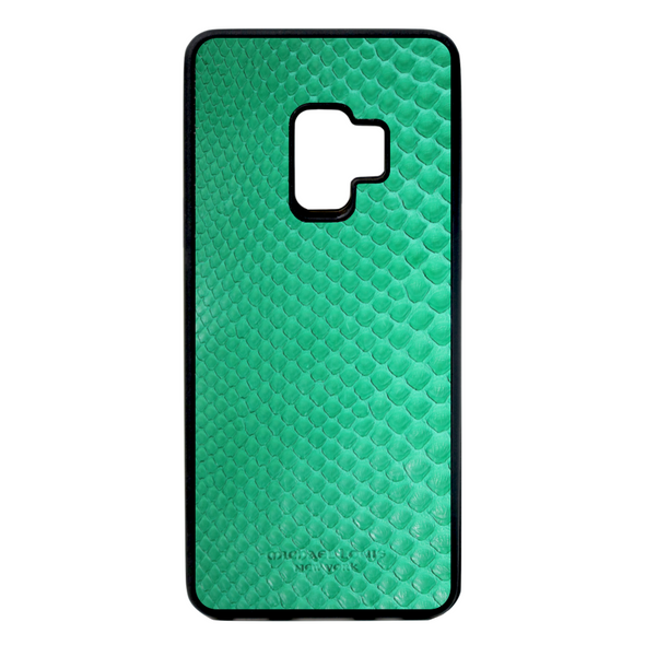 Green Python Snakeskin Galaxy S9 Case