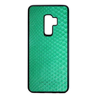Green Python Snakeskin Galaxy S9 Plus Case