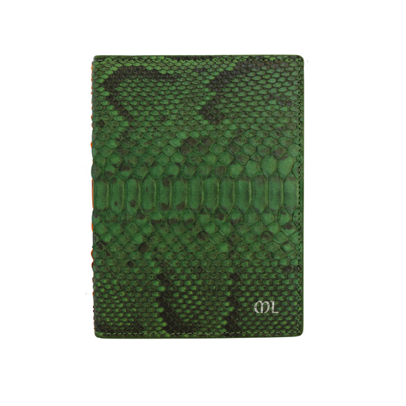 Green Python Passport Holder