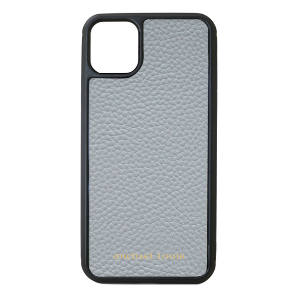 Grey Pebbled Leather iPhone 11 Pro Max Case
