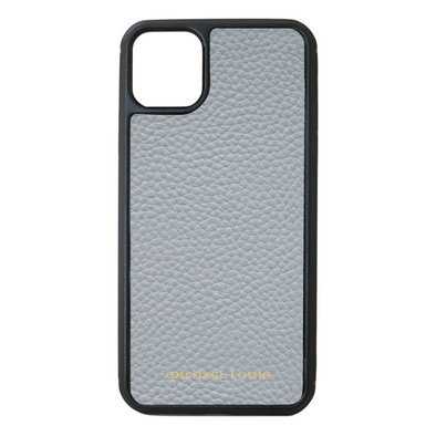 Grey Pebbled Leather iPhone 11 Pro Case