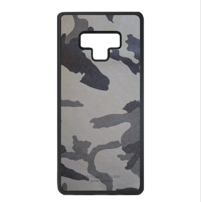 Grey Camo Leather Galaxy Note 9 Case