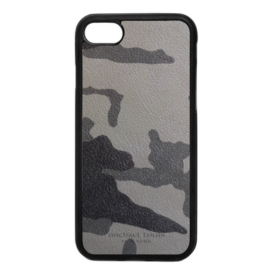 Grey Camo Leather iPhone 7 / 8 Case