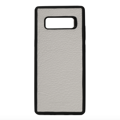 Grey Pebbled Leather Galaxy Note 8 Case