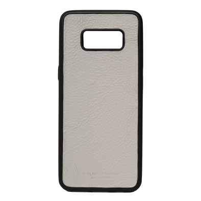 Grey Pebbled Leather Galaxy S8 Case