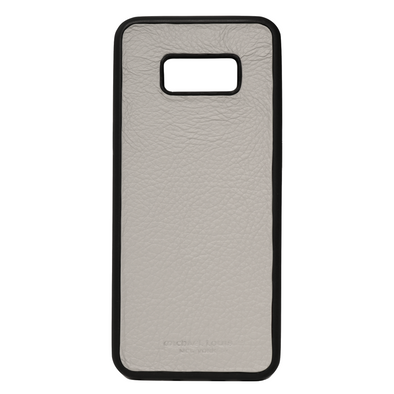 Grey Pebbled Leather Galaxy S8 Plus Case