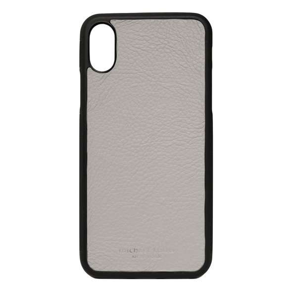 Grey Pebbled Calfskin iPhone X Case