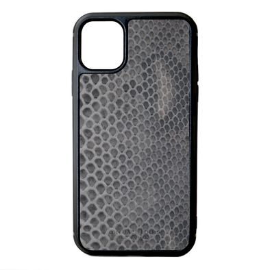Grey Python Snakeskin iPhone 11 Case