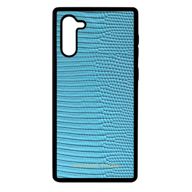 Light Blue Lizard Galaxy Note 10 Case