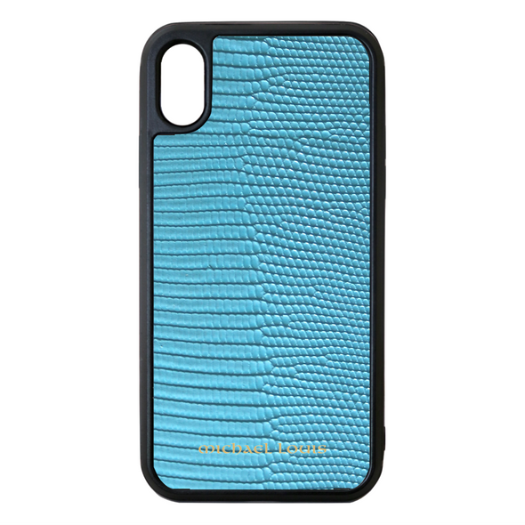 Light Blue Lizard iPhone XS Max Case