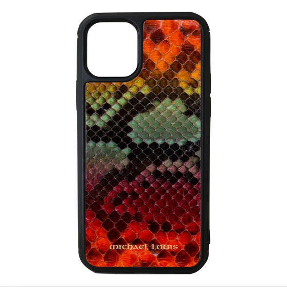 "Limited Edition Multicolor ""1"" Python Snakeskin iPhone 11 Pro Max Case"