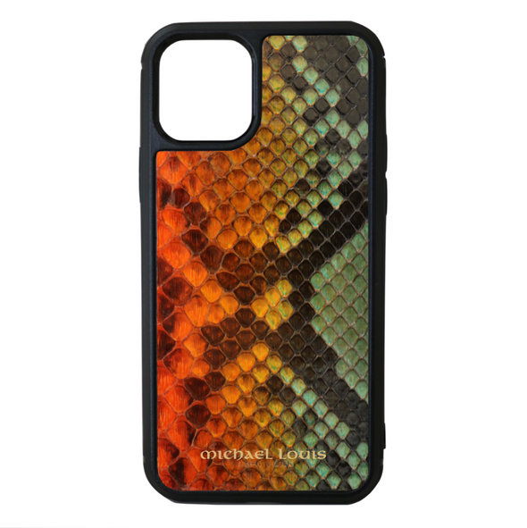"Limited Edition Multicolor ""2"" Python Snakeskin iPhone 11 Pro Case"