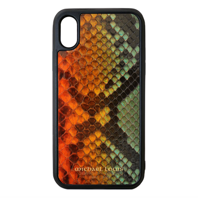 "Limited Edition Multicolor ""2"" Python Snakeskin iPhone XS Max Case"