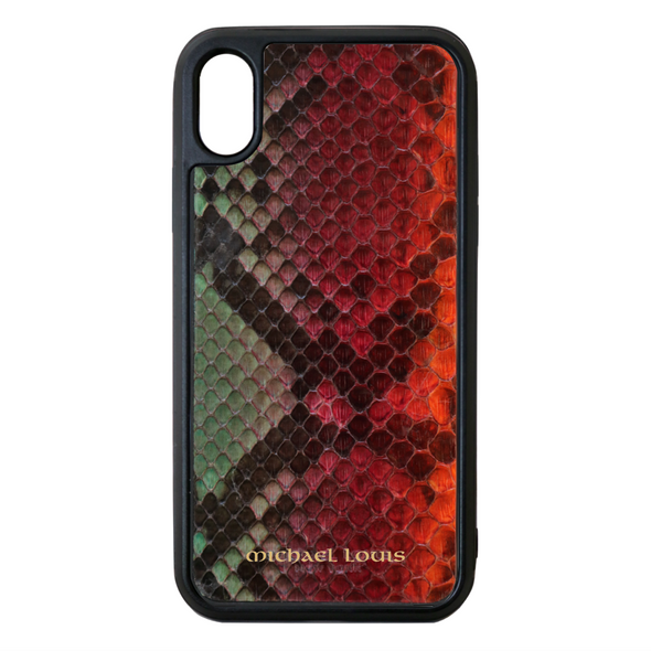 "Limited Edition Multicolor ""3"" Python Snakeskin iPhone X/XS Case"
