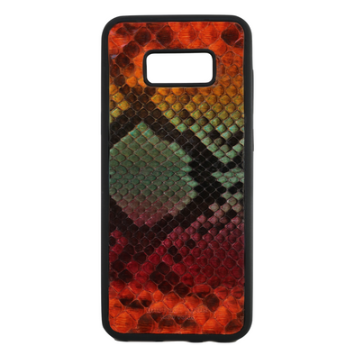 "Limited Edition Multicolor ""1"" Python Snakeskin Galaxy S8 Plus Case"