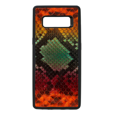 "Limited Edition Multicolor ""1"" Python Snakeskin Galaxy Note 8 Case"