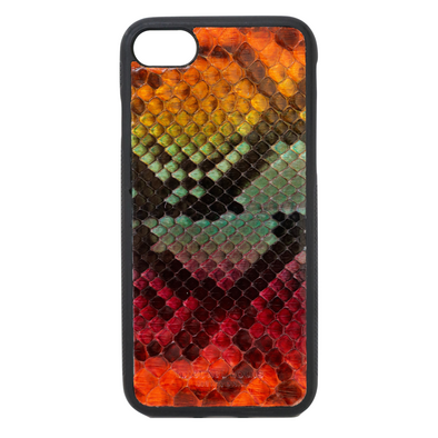 "Limited Edition Multicolor ""1"" Python Snakeskin iPhone 7 / 8 Case"
