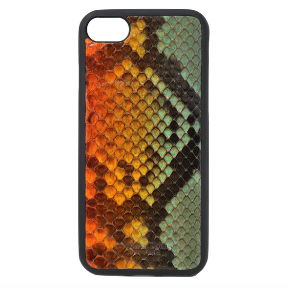 "Limited Edition Multicolor ""2"" Python Snakeskin iPhone 7 / 8 Case"