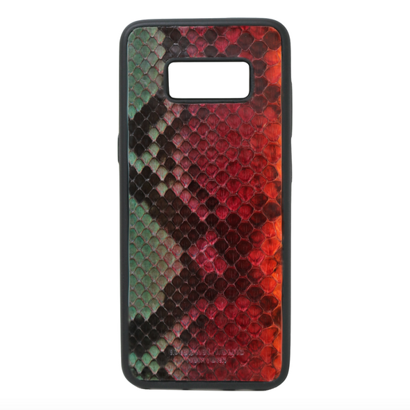 "Limited Edition Multicolor ""3"" Python Snakeskin Galaxy S8 Case"