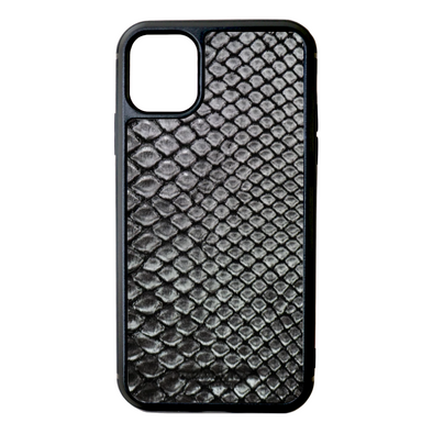 Silver Python Snakeskin iPhone 11 Case