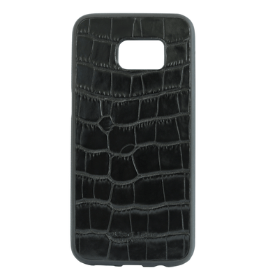 Black Croc Embossed Galaxy S7 Edge Case