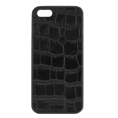 Black Croc Embossed iPhone 5/5S/SE Case