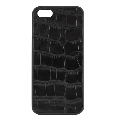 Mother Mantis: Black Croc Embossed iPhone 5/5S/SE Case MichaelLouisInc