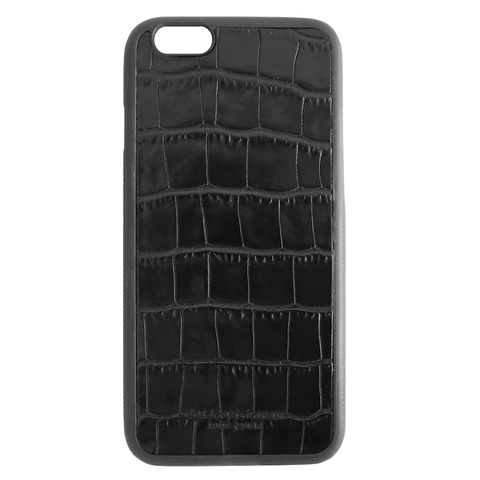 Mother Mantis: Black Croc Embossed iPhone 6/6S Case MichaelLouisInc