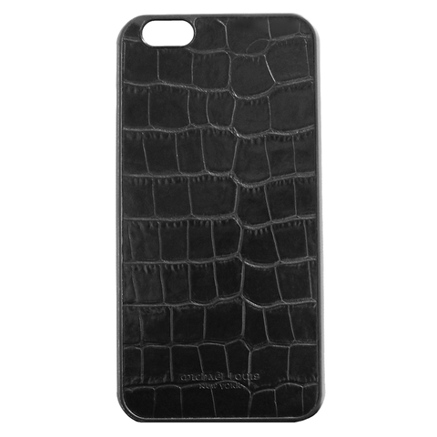 Mother Mantis: Black Croc Embossed iPhone 6/6S Plus Case MichaelLouisInc
