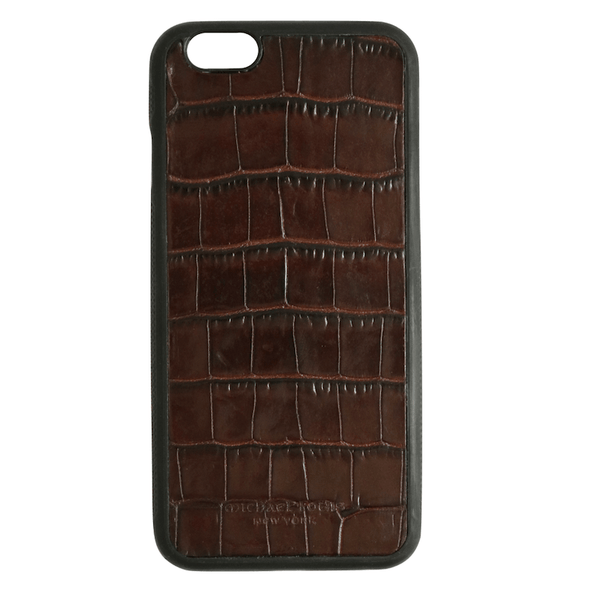 Brown Croc iPhone 6/6S Case
