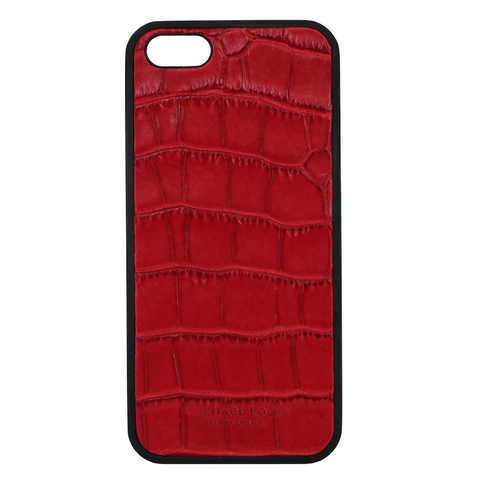 Mother Mantis: Red Croc Embossed iPhone 5/5S/SE Case MichaelLouisInc