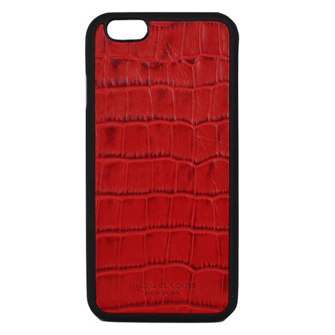Mother Mantis: Red Croc Embossed iPhone 6/6S Case MichaelLouisInc