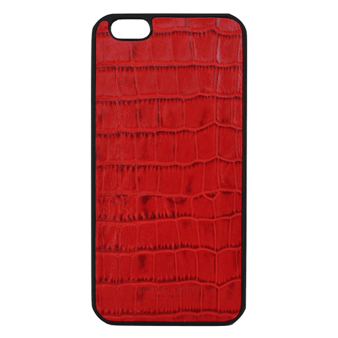 Mother Mantis: Red Croc Embossed iPhone 6/6S Plus Case MichaelLouisInc