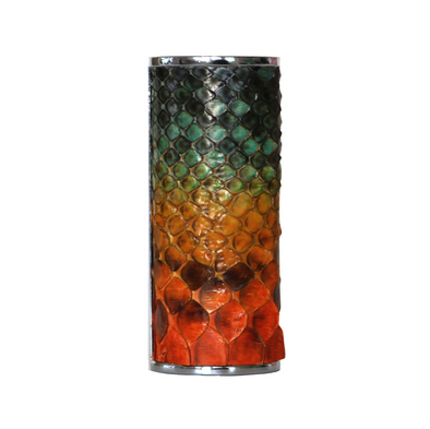 "Multicolor ""2"" Python Snakeskin Lighter Case"
