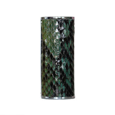 "Multicolor ""3"" Python Snakeskin Lighter Case"