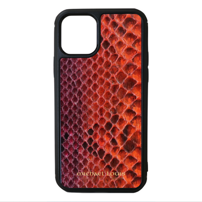 "Limited Edition Multicolor ""4"" Genuine Python Snakeskin iPhone 11 Pro Case"
