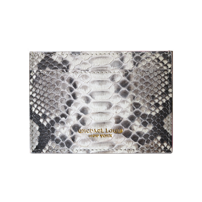 Natural Python Classic Card Holder