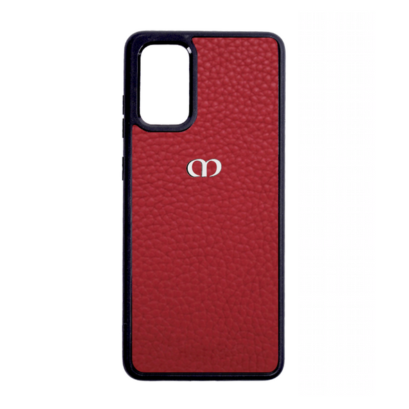 Red Pebbled Leather Galaxy S20 Case