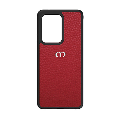 Red Pebbled Leather Galaxy S20 Ultra Case