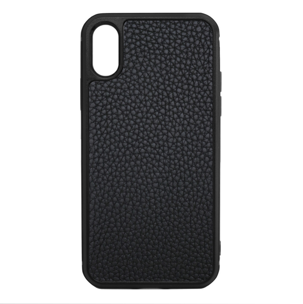 Black Para Leather iPhone XS Max Case