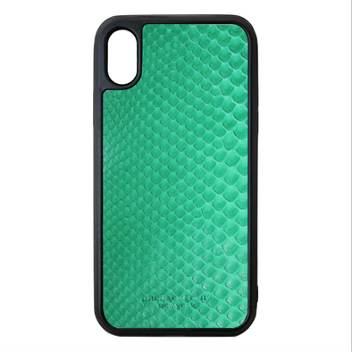 Green Python Snakeskin iPhone XS Max Case