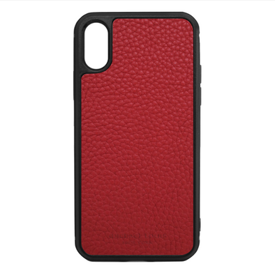 Red Para Leather iPhone X/XS Case